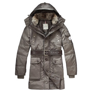 DG8925 Moncler Coats Hooded Down Mid - lĂŚngde Nigger Brown [bdbc