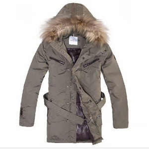 Moncler Down Coats Hooded Med Khaki DG5951 [4c43]