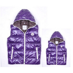 Moncler Down Veste Zip Hooded Style Purple DG7783 [f6d6]