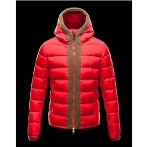 DG2775 Mens Moncler Hooded Daunenjacken Canut Red [63a4]