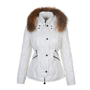 DG2339 Moncler Lontre Womens Daunenjacken Shiny White [5296]