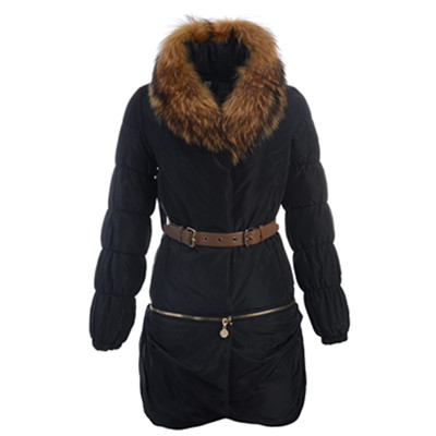 2012 Latest Womens Moncler Uncoupled Down Coat Black DG8788 [b1b1]