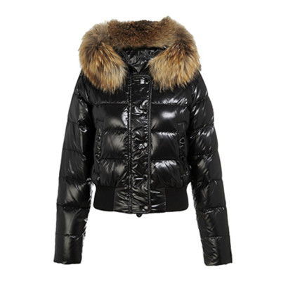 d77f875be DG3648 Womens Moncler Alpes Quilted Fur Hood Down Jackets Black ...