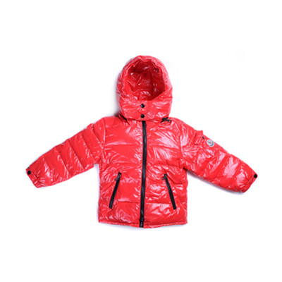 66ed60e34 DG4635 Kids Moncler Jackets Metallic Fabric Hooded Red  8f21 ...