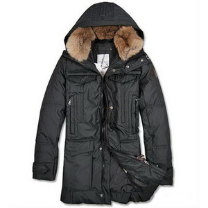 DG6581 Mens Moncler Down Coats Mid-length Black [5db9]
