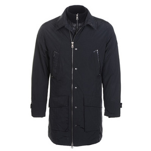 DG9379 Mens Moncler Coats Zip At Side Button Black [adb7]