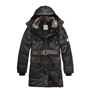 Mens Moncler Coats Hooded Mid-length Black DG9555 [1ca2]