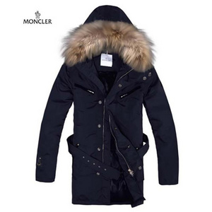 Mens Moncler Down Coats Hooded With Dark Blue DG8748 [0493]