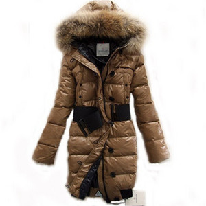 DG8357 Moncler Lucie New Pop Star Womens Down Coat Brown [ec5c]