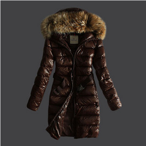 DG8553 Womens Moncler Down Coats With Belt Style Coffee [5fb2]