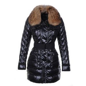 Moncler Astere Quilted Womens Coat With Raccoon Fur Collar Black DG8576 [4979]