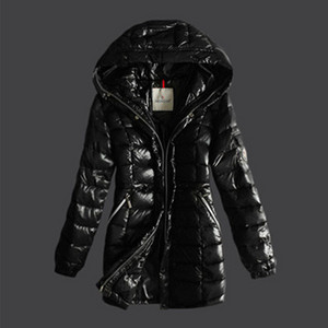 Moncler Breasted Pure Color Womens Down Coats Black DG2634 [ba4b]