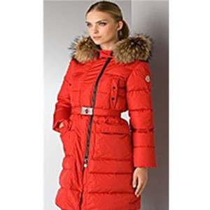 Moncler Mokacine Womens Down Coat Red DG4782 [95a2]
