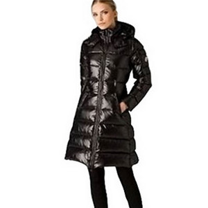 Womens Moncler Fashion Long Down Coat Black DG7422 [91cd]