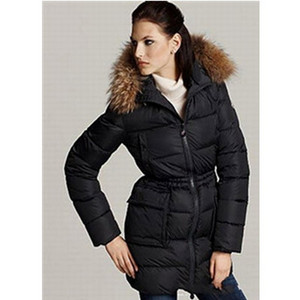 Womens Moncler Gueran Down Coat Black DG5362 [f329]