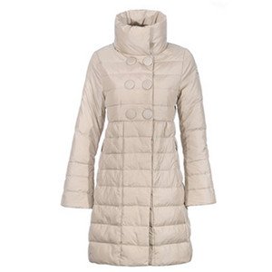 Womens Moncler Johanna Stand Collar Down Coat White DG8192 [1cf2]