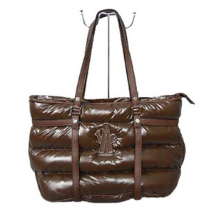 DG8923 Womens Moncler Handbag Waterproof Leather Brown [57b3]