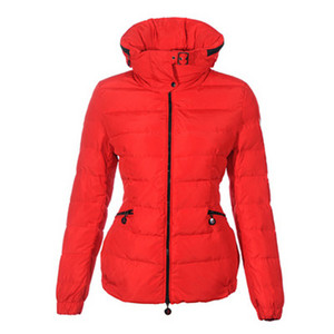 DG6937 Womens Moncler Fitted Pack In Hood Short Jacket Red [6261]