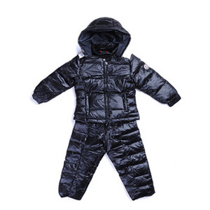 Moncler Bazille Kids Two-piece Coats Dark Blue Hooded DG2894 [047d]