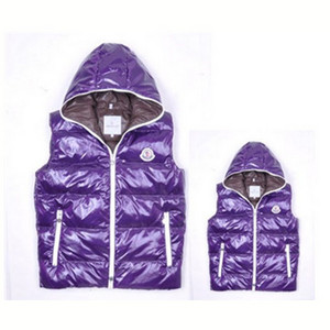 DG2456 Mens Moncler Vests Fashion Hooded Style Purple [81b0]