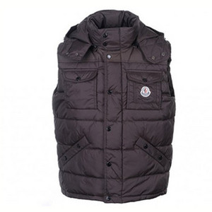 DG4442 Mens Moncler Vests Multi Pockets Brown [112d]
