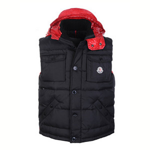 DG5248 Mens Moncler Vests Single-breasted Style Black [f116]