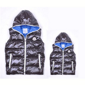DG7523 Mens Moncler Vests Fashion Hooded Style Black [5eb2]