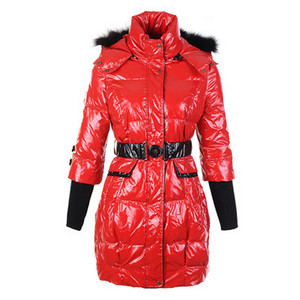 DG1871 Womens Moncler New Down Coats Red [943b]