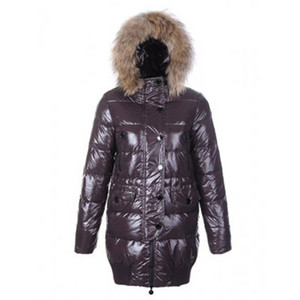 DG2261 Moncler Loire Womens Down Coats Hooded With Zip Coffee [8557]