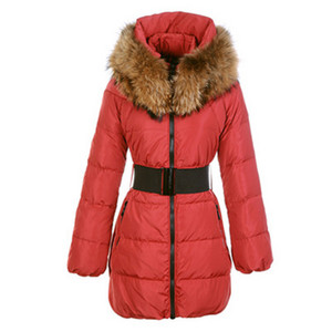 DG5467 Moncler Sauvage Womens Large Collar Coat Red [c89f]
