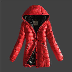 DG5599 Moncler Breasted Pure Color vrouwen omlaag Coats Red [5dd3]