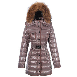 DG7261 2012 Moncler Armoise Womens Long Giù cappotto Brown [16a3]