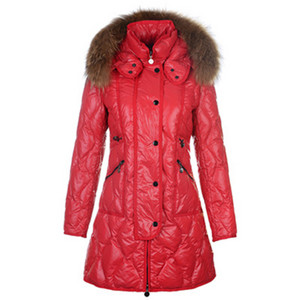 DG8737 2012 New Moncler Lontre Womens Down Coats Shiny Red [2b66]