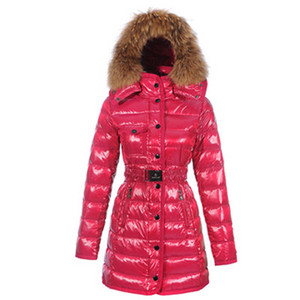 Moncler 2012 Armoise Womens Long Down Coat Red DG1456 [73a7]