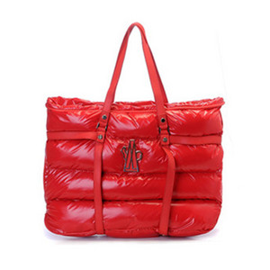 DG4975 Womens Moncler Calfskin Patent Leather Handle Handbags Red [0eaf]