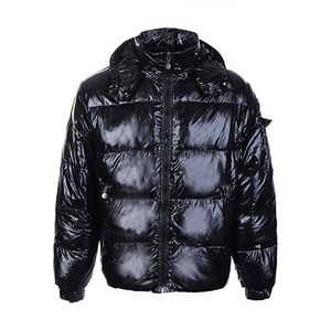 DG7234 Mens Moncler Gloss Quilted Jackets Black [cb0a]