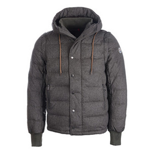 DG9116 Moncler Latest Mens Removable-sleeve Down Jacket Brown [669e]