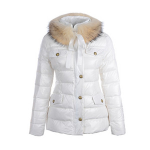 DG3343 Moncler Cachalot Womens Fur Collar Down Jackets White [32de]