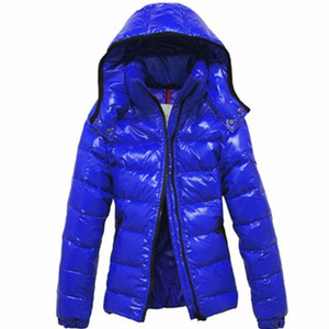 Moncler Mabel Womens Jackets Quilted Hooded Blue DG4391 [529b]