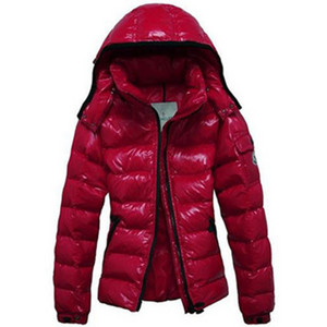 Moncler Mabel Womens Jackets Quilted Hooded Red DG2793 [62fd]