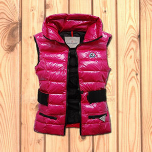 Womens Moncler Gaelle Fully Lined Down Vest Pink DG3294 [68a6]