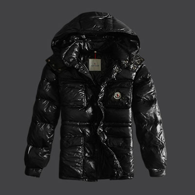 DG2478 Moncler Branson Mens Down Jackets Single-breasted Black [632f]