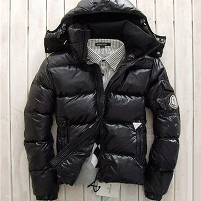 DG5425 Mens Moncler Down Jacket Black With Hood [f102]
