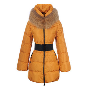 DG1844 Moncler Sauvage Womens Large Collar Coat Gold [4a95]