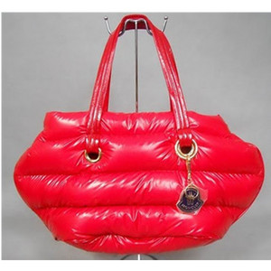 Womens Moncler Patent Leather Shiny Handtassen Dark Red DG9579 [4e71]
