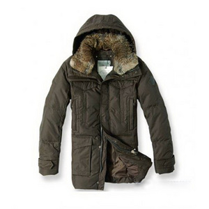DG9427 Mens Moncler Down Coats Midt - lengde Brown [659d]