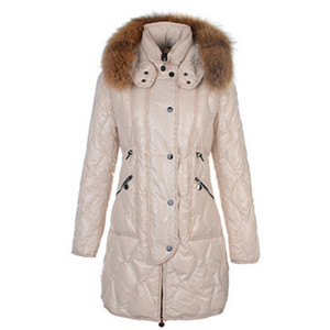 2012 New Moncler Lontre Womens Down Coats Shiny Beige DG2257 [b960]