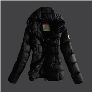 Womens Moncler dunjakker Pure Color Svart DG8176 [2abc]