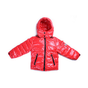 DG4635 Kids Moncler Jakker Metallic Fabric Hooded Red [8f21]