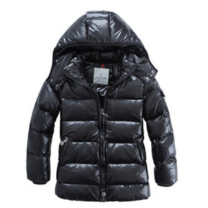 DG5232 Kids Moncler Hooded Down Coats Black [278f]
